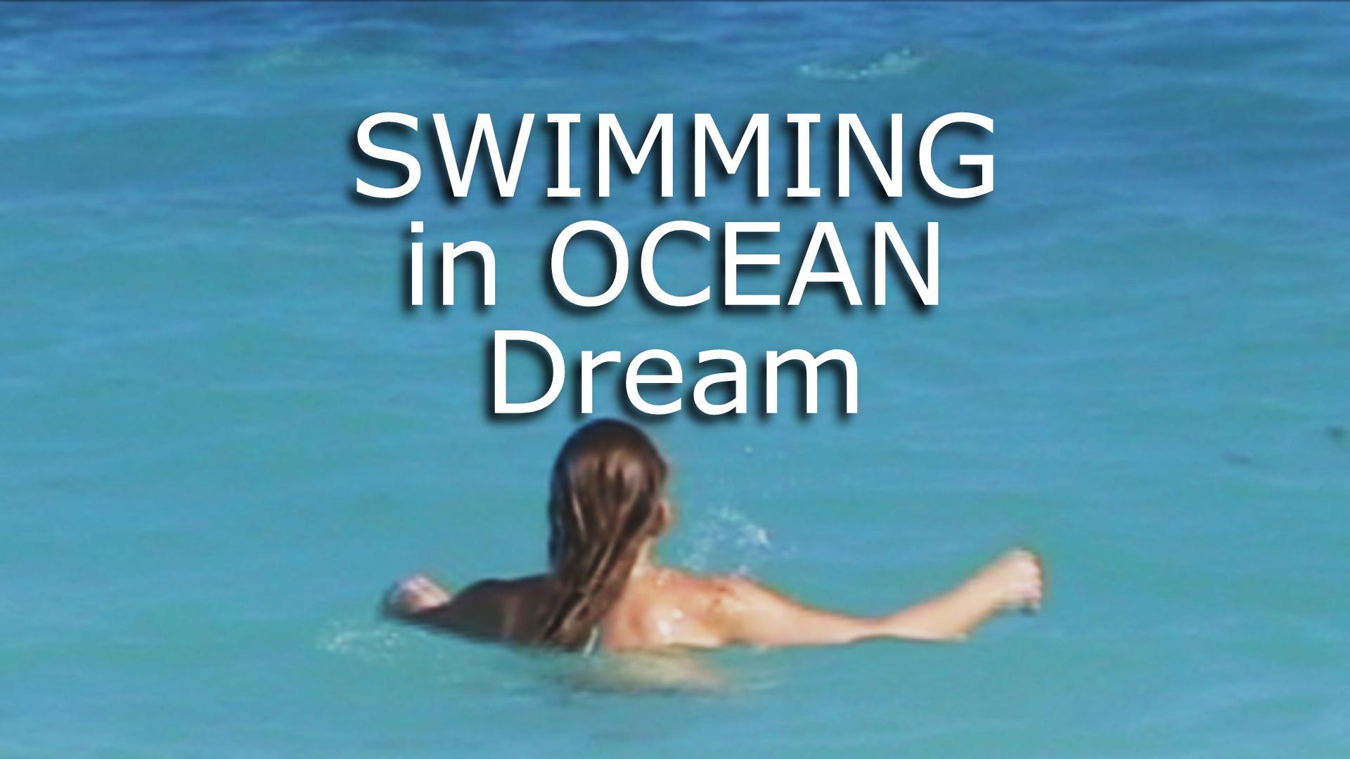 dream of swimming in deep ocean