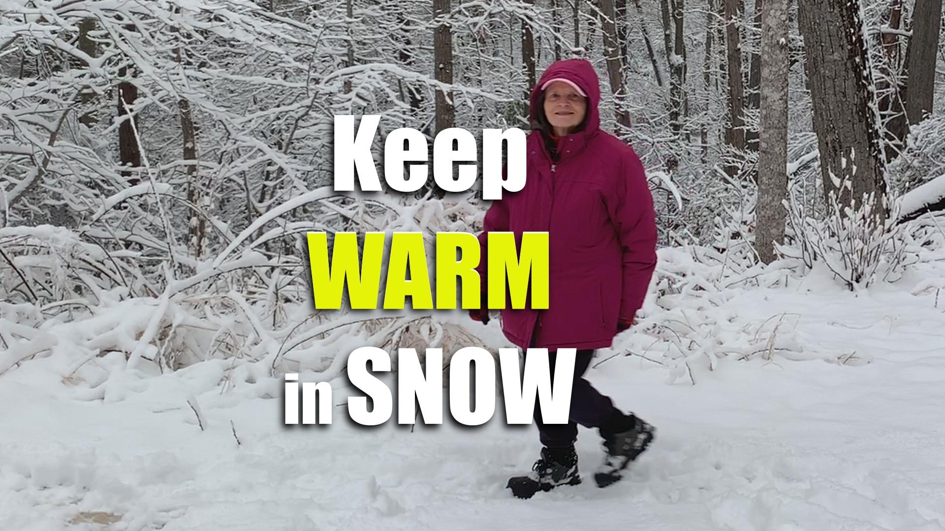 keep warm in winter walking in snow